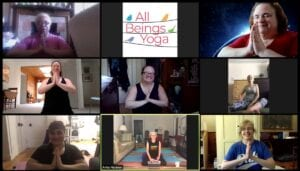 Zoom Classes at All Beings Yoga